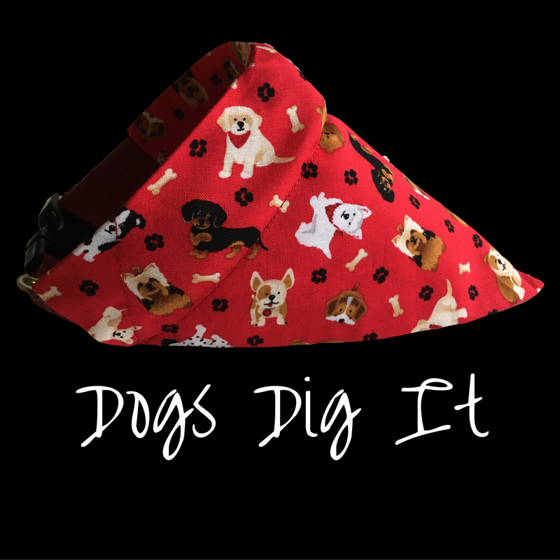 Adorable bandana that slides on to your dog's collar.