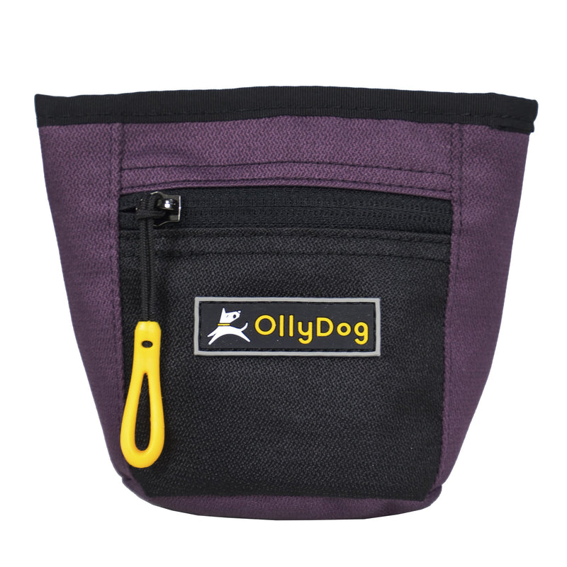 The Olly Dog Goodie Treat Bag can be worn around the waist, or clipped to a belt or pants pocket. The bag is water-resistant, and the magnetic closure allows quick and easy access to treats and to close the bag with ease. The front zipper pocket is the perfect size to hold car keys or a roll of waste bags!
