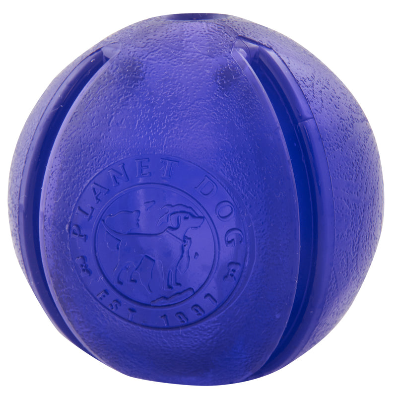 Guru is an ultra-durable interactive toy features five different openings to hide treats. This toy is designed to release treats only when your dog has applied enough pressure for the treats to pop out. Dogs will need to chew and squeeze the ball to release the treats.
