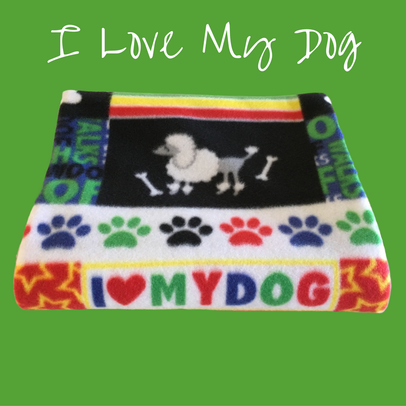 "40"" x 50"" handmade fleece blanket for you or your pets. Blanket edges are finished."