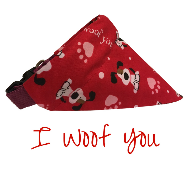 I Woof You-Dog Bandana - Dogs Dig It
