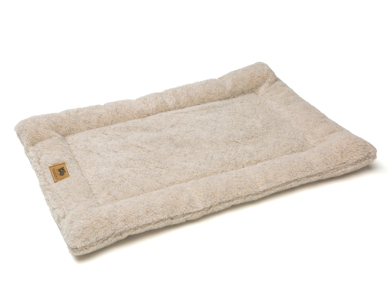 The Montana Nap Pet Bed is made of 100% eco-friendly IntelliLoft fabric and fill. It is durable, lightweight, soft, and sizes are crate-friendly. Bed can be rolled up, folded, or tossed in the car for travel ease. Perfect for use in crates, homes, offices, hotel rooms, campers, etc.