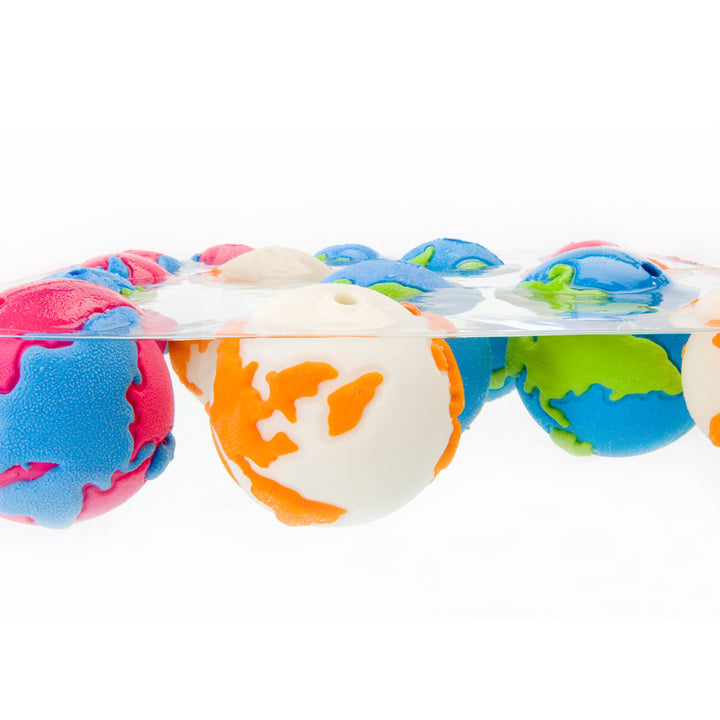Orbe-Tuff Pink & Blue Globe Ball - Dogs Dig It