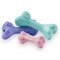 The Pup Bone is made from the award-winning Orbee-Tuff material, which is 100% recyclable and non-toxic. Toy is made specifically for puppies and is durable, bouncy, buoyant, and perfect for tossing and fetching. Toy is infused with natural mint oil.