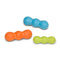 Rumpus is an extra durable toy with three chew lobes that are designed for dogs who need to gnaw. Toy rocks, rolls, bounces, and floats to keep dogs engaged. Built for tough chewers and made from Zogoflex, a bendy, stretchy, and bouncy material that is durable but not rigid. Toys are gentle on your dog's teeth.