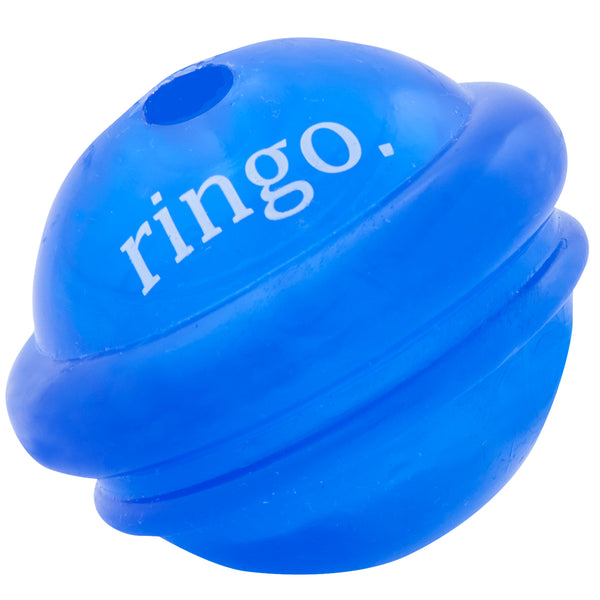 Ringo is made from the award-winning Orbee-Tuff material, which is 100% recyclable and non-toxic. Ball is durable, bouncy, buoyant, and perfect for tossing, fetching, and bouncing. The unpredictable bounce makes it fun to chase. Toy is infused with natural mint oil.