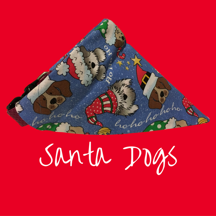 Santa Dogs-Dog Bandana - Dogs Dig It