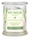 Pet House candles are hand-poured, and made from 100% natural, dye-free soy wax. Comes in an 8.5 oz. glass jar. Fragrance profile is a fresh blend of bamboo, water flowers, lemon, lime, and peppermint.