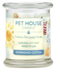 Pet House candles are hand-poured, and made from 100% natural, dye-free soy wax. Comes in an 8.5 oz. glass jar. Fragrance profile is a classic, crisp, and clean laundry fragrance combined with fruity accents.