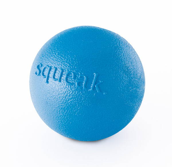 Squeak ball is made from the award-winning Orbee-Tuff material, which is 100% recyclable and non-toxic. Ball is ultra-durable, bouncy, buoyant, and perfect for tossing, fetching, and bouncing. Takes a powerful chewer to make Squeak ... squeak! Toy is infused with natural mint oil.