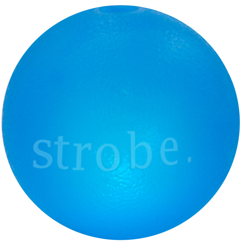 Strobe ball is made from the award-winning Orbee-Tuff material, which is 100% recyclable and non-toxic. Bounce Strobe on a hard surface to activate the multi-colored LED light. The blinking LED light makes Strobe easy to spot in the dark or buried in the snow!