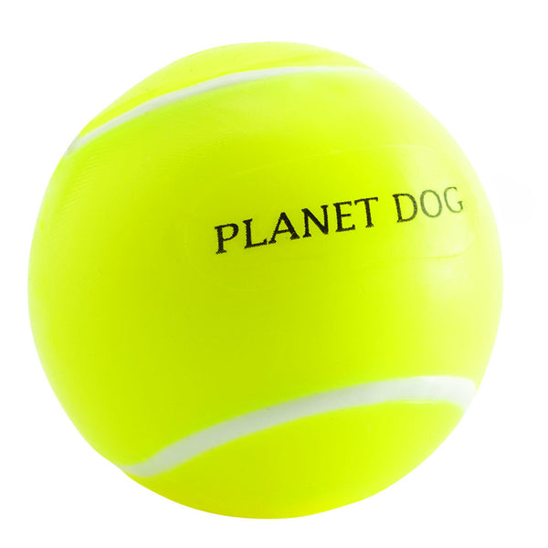 Toss that dirty old tennis ball and replace it with one made from the award-winning Orbee-Tuff material, which is 100% recyclable and non-toxic. Ball is durable, bouncy, buoyant, and perfect for tossing, fetching, and bouncing. Toy is infused with natural mint oil.