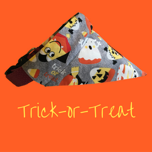 Trick-or-Treat-Dog Bandana - Dogs Dig It