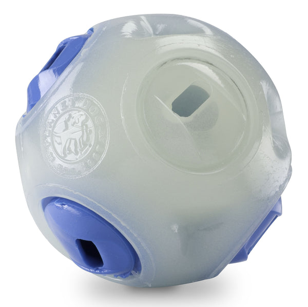 The Whistle ball is made from the award-winning Orbee-Tuff material, which is 100% recyclable and non-toxic. It is perfect for tossing, fetching, and bouncing. Whistles louder the harder you throw it. Intended for tossing and fetching. This is not a chew toy. Fits most standard size ball tossers.