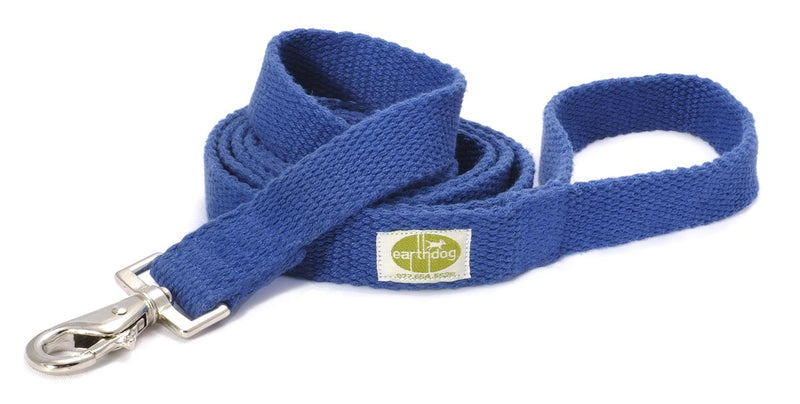 Brightly colored leashes by Earth Dog are made from 100% hemp webbing and high-quality snap hooks. Leashes are durable and easy to clean.