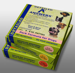 Answers Detailed Pork Formula (for dogs)