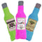 The Duraplush BrewGear bottles are durable and soft dog toys that are eco-friendly and made in the USA. They feature a Duraplush 2-ply bonded outer material, Stitchguard internal seams, and eco-fill recycled filling. Toys do not contain internal squeakers.
