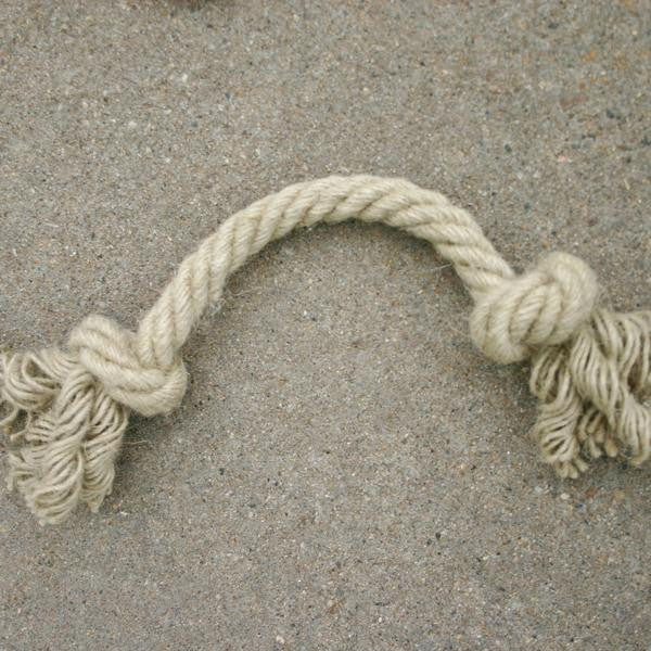 The Good Dog Durable hemp tug rope that is made from 100% natural unprocessed hemp fibers.