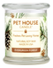 Pet House candles are hand-poured, and made from 100% natural, dye-free soy wax. Comes in an 8.5 oz. glass jar. Fragrance profile smells like a walk in the woods among coniferous pines, crushed leaves, redwoods, and sweet balsam.