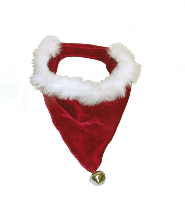 Santa Paws is coming to town with this adorable holiday dog bandana. This festive pet accessory is made with soft material and sized to fit most dogs. Perfect for holiday dress-up, photo shoots, family gatherings, holiday parties, and more. Bandana is available in 3 sizes and has an adjustable velcro strap.
