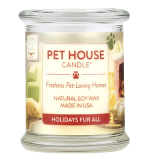 Pet House Holidays Fur All Candle