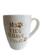 Beautiful true white porcelain coffee mugs with cute dog designs made with vinyl. Mugs have a sleek and elegant design, and are chip resistant. The well-shaped handle allows adequate room between the mug and handle for a comfortable grip.