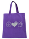High-quality, brightly colored canvas tote bags with cute dog designs made with sparkly vinyl.