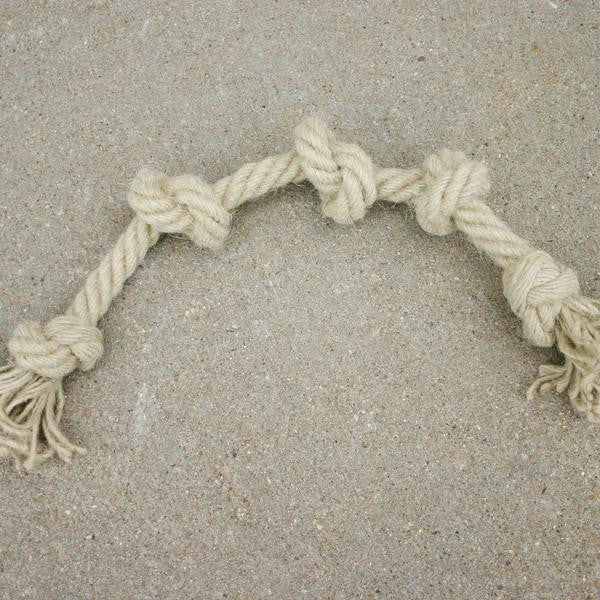 Durable hemp tug rope that is made from 100% natural unprocessed hemp fibers.