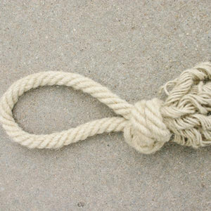 Loop Knot Hemp Tug Ropes - Dogs Dig It