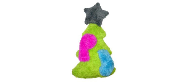 The Duraplush Trimmed Christmas Tree dog toy is a holiday hit and must-have for multi-dog households. The Christmas Tree is the perfect size for medium to large breed dogs, and the removable ornaments are the right size for toy or small breed dogs.