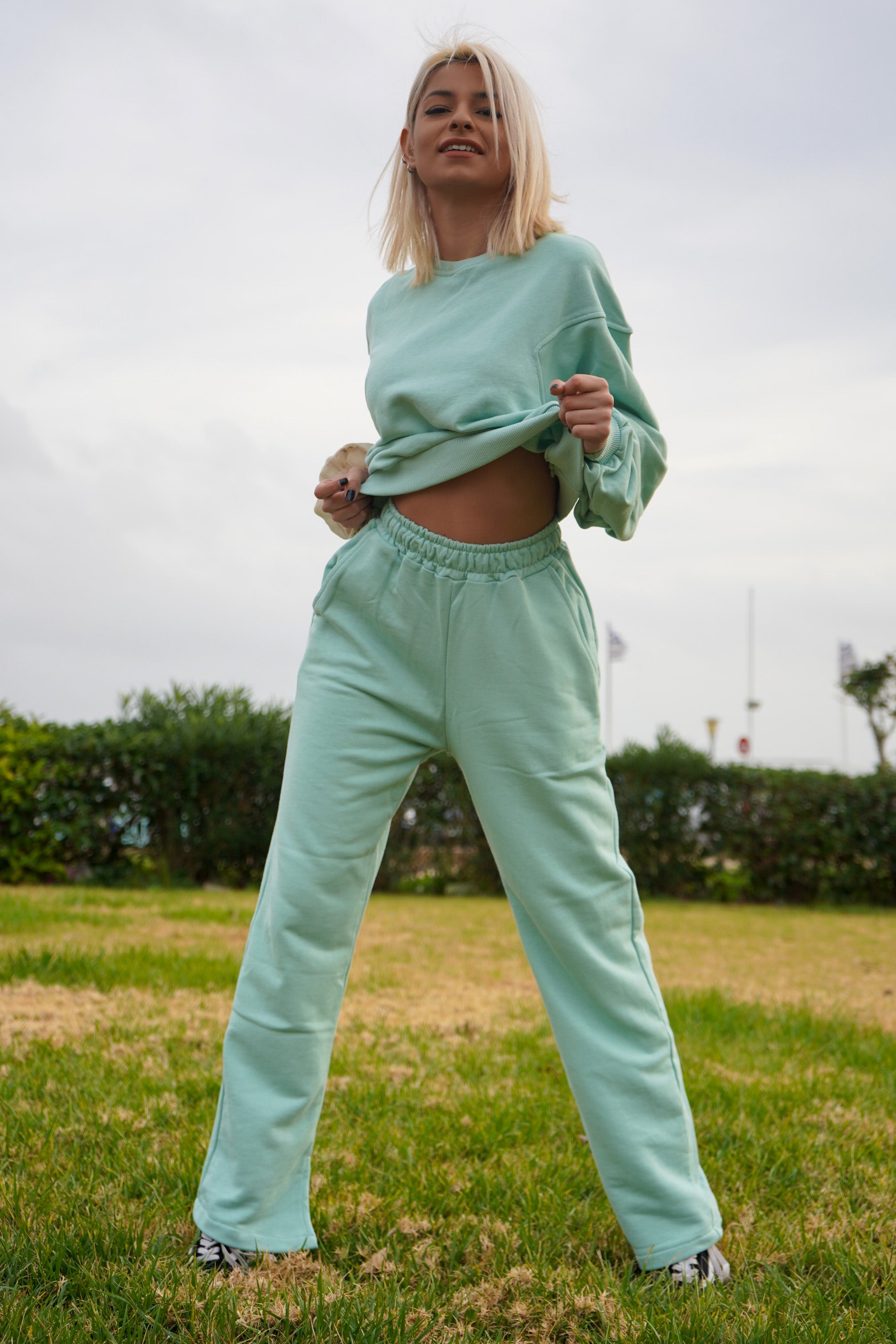 Sweatsuit in mint