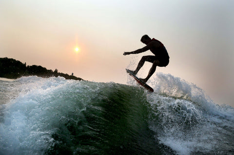 Wakesurfing Sunset Wake Gate Wakesurf Shaper