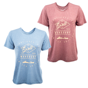 SWELL Wakesurf Classic Shirt - Tri Blend - Womens