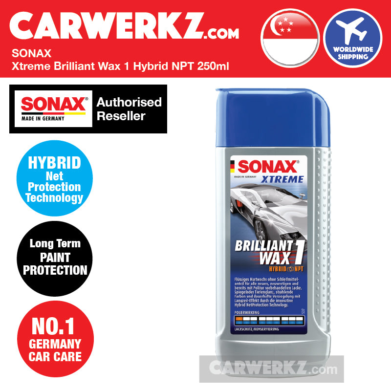 Sonax Xtreme Brilliant Wax 1 Hybrid NPT 250ml - carwerkz sg my de jp in id fr it mc
