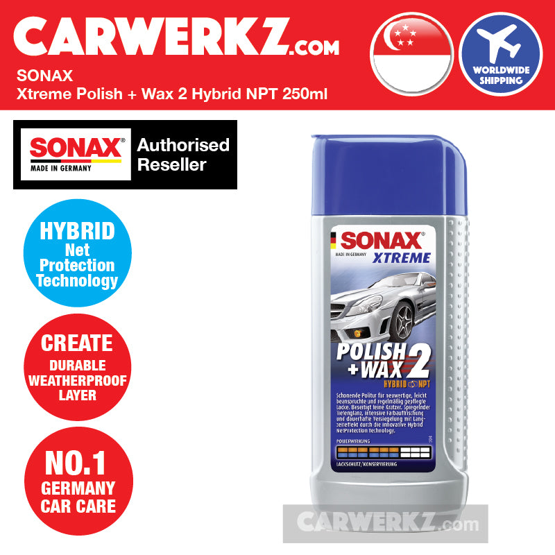 Sonax Xtreme Polish + Wax 2 Hybrid Net Protection Technology - carwerkz sg my de fr jp it mc