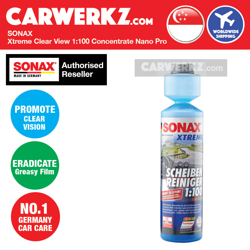 Sonax Xtreme Clear View 1:100 Concentrate Nano Pro 250ml - CarWerkz