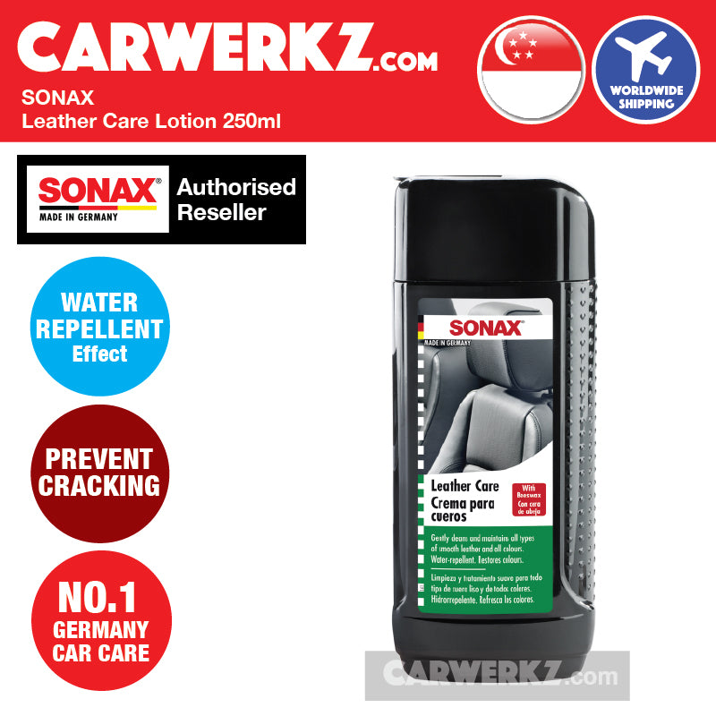 Sonax Leather Care Lotion 250ml - carwerkz de jp it mc fr my sg