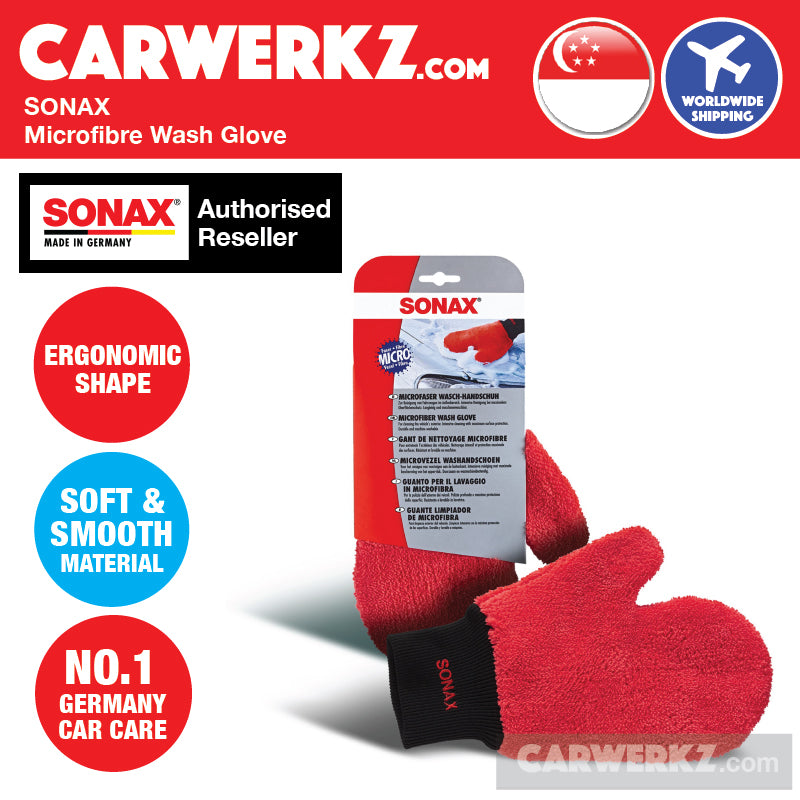 Sonax Microfibre Wash Glove - carwerkz sg my de jp au nz fr mc ph