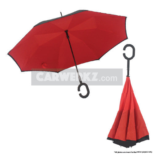 Inverted Umbrella Red - CarWerkz