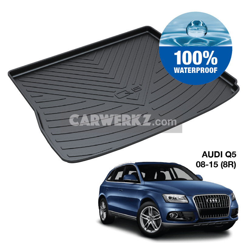 Audi Q5 2008-2018 1st Generation (8R) Customised German Luxury SUV Trunk Perfect Moulded Ultra Durable TPO 3D Boot Tray - CarWerkz