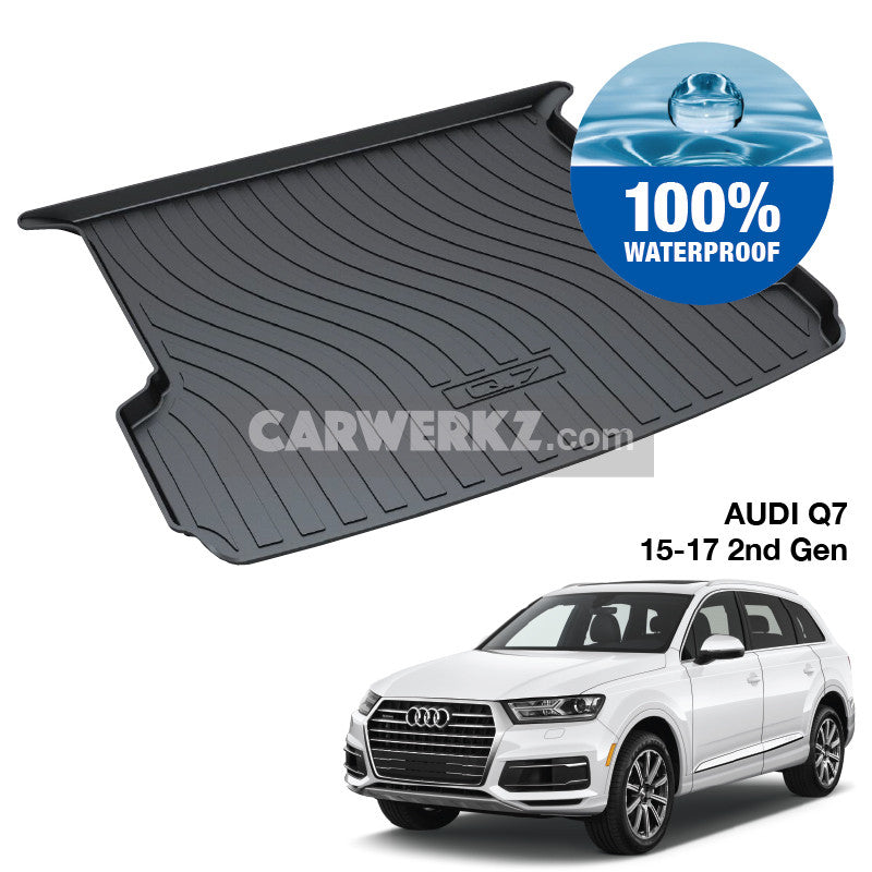 Audi Q7 2015-2017 2nd Generation (Typ: 4M) TPO Boot Tray - CarWerkz