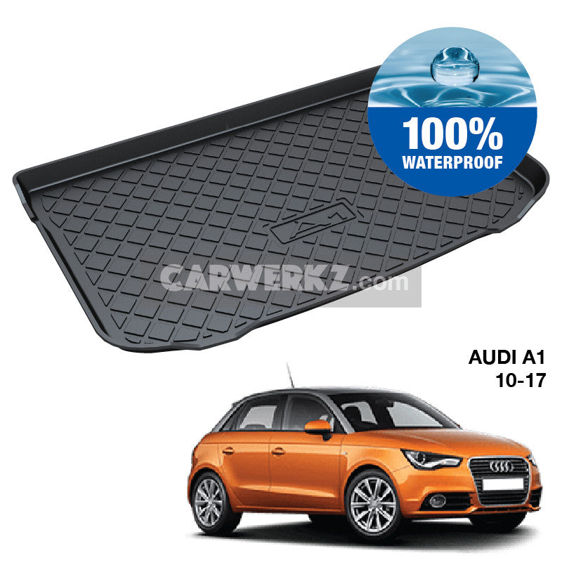 Audi A1 2010-2018 5 Doors 1st Generation (8X) Germany Supermini Sportback Hatchback Car Trunk Perfect Moulded Ultra Durable TPO 3D Boot Tray - CarWerkz