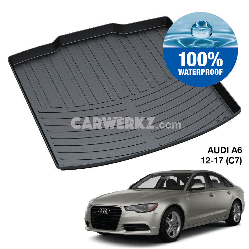 Audi A6 S6 2011-2019 4th Generation (C7) Germany Luxury Sedan Customised Car Trunk Perfect Moulded Ultra Durable TPO 3D Boot Tray - CarWerkz