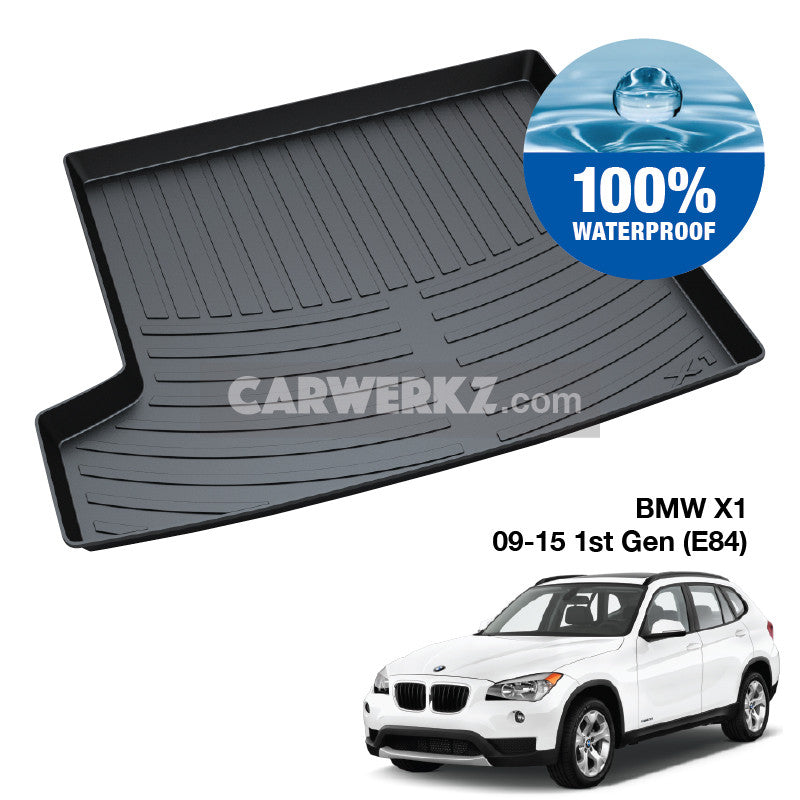 BMW X1 2009-2015 1st Generation (E84) Customised Luxury Germany Compact SUV Car Trunk Perfect Moulded Ultra Durable TPO 3D Boot Tray - CarWerkz