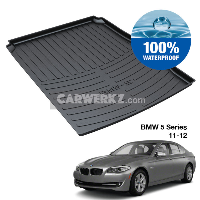 BMW 5 series 2010-2016 6th Generation (F10) Customised Luxury Germany Sedan Car Trunk Perfect Moulded Ultra Durable TPO 3D Boot Tray - CarWerkz