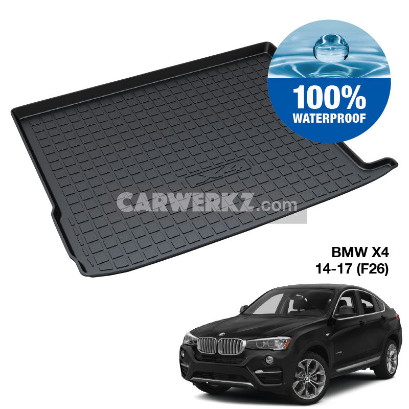 BMW X4 2014-2018 1st Generation (F26) Germany SUV Coupe Customised SUV Trunk Perfect Moulded Ultra Durable TPO 3D Boot Tray - CarWerkz