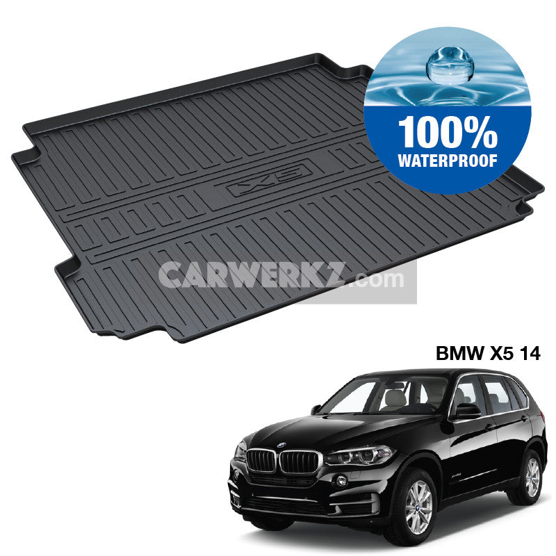 BMW X5 2013-2018 3rd Generation (F15) Germany Luxury Full Size SUV Customised SUV Trunk Perfect Moulded Ultra Durable TPO 3D Boot Tray - CarWerkz
