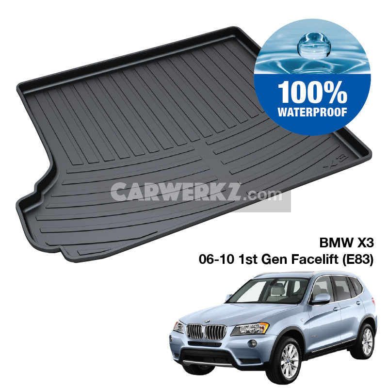 BMW X1 2006-2010 1st Generation (E83) Customised Luxury Germany Compact SUV Car Trunk Perfect Moulded Ultra Durable TPO 3D Boot Tray - CarWerkz