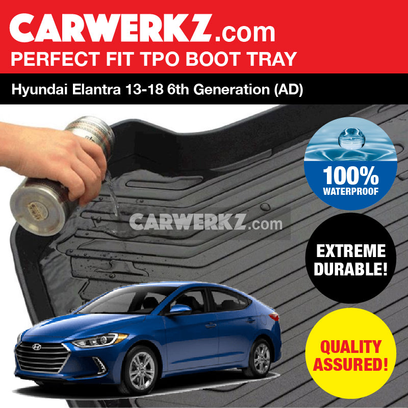 Hyundai Elantra 2016 2018 6th Generation Ad Ultra Durable Tpo Boot Tray Bootliner