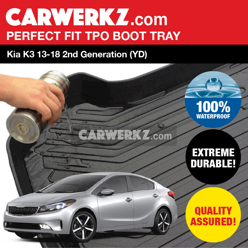 Kia K3 2013-2018 2nd Generation (YD) TPO Boot Tray - CarWerkz